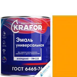 """Фото 15 - Эмаль Крафор """"ПФ-115 Желтая"""" универсальная глянцевая алкидная  уп - 6 шт, по [1.8кг] Krafor."""