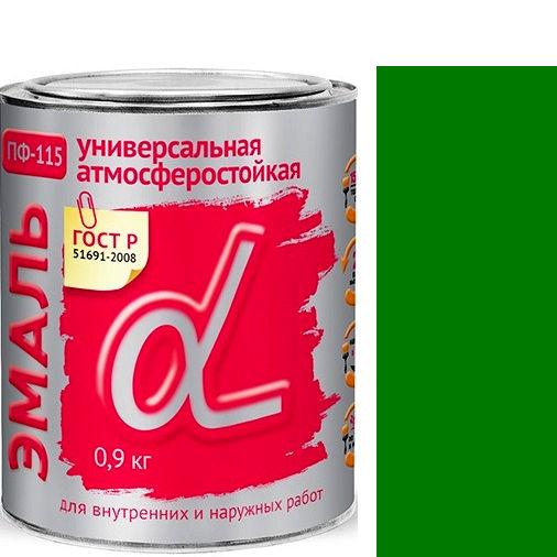"""Фото 23 - Эмаль Альфа Крафор """"ПФ-115 Зеленая"""" универсальная глянцевая алкидная  [20кг] Krafor."""