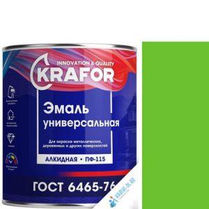 """Фото 13 - Эмаль Крафор """"ПФ-115 Зеленое Яблоко"""" универсальная глянцевая алкидная  уп - 6 шт, по [1.8кг] Krafor."""