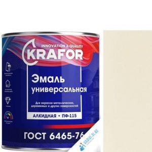 """Фото 11 - Эмаль Крафор """"ПФ-115 Кремовая"""" универсальная глянцевая алкидная  уп - 6 шт, по [1.8кг] Krafor."""