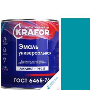 """Фото 10 - Эмаль Крафор """"ПФ-115 Морская Волна"""" универсальная глянцевая алкидная  уп - 6 шт, по [1.8кг] Krafor."""