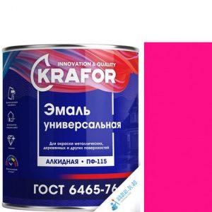 """Фото 9 - Эмаль Крафор """"ПФ-115 Розовая"""" универсальная глянцевая алкидная  уп - 6 шт, по [1.8кг] Krafor."""