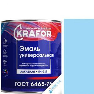 """Фото 7 - Эмаль Крафор """"ПФ-115 Светло-Голубая"""" универсальная глянцевая алкидная  уп - 6 шт, по [1.8кг] Krafor."""