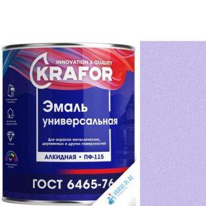 """Фото 6 - Эмаль Крафор """"ПФ-115 Светло-Фиолетовая"""" универсальная глянцевая алкидная  уп - 6 шт, по [1.8кг] Krafor."""