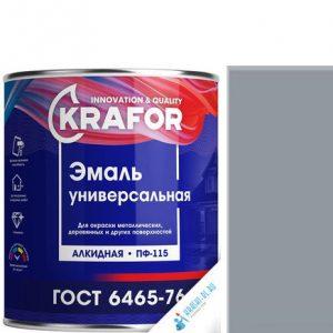 """Фото 5 - Эмаль Крафор """"ПФ-115 Серая"""" универсальная глянцевая алкидная  уп - 6 шт, по [1.8кг] Krafor."""