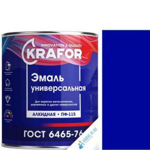 """Фото 4 - Эмаль Крафор """"ПФ-115 Синяя"""" универсальная глянцевая алкидная  уп - 6 шт, по [1.8кг] Krafor."""