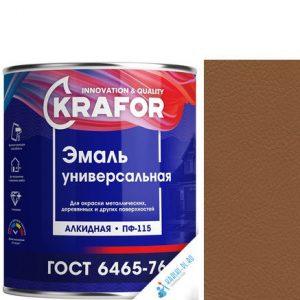 """Фото 2 - Эмаль Крафор """"ПФ-115 Шоколадная"""" универсальная глянцевая алкидная  уп - 6 шт, по [1.8кг] Krafor."""
