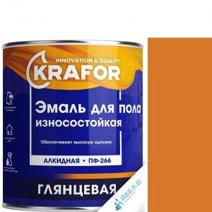 """Фото 6 - Эмаль Крафор """"ПФ-266 Золотистая"""" глянцевая быстросохнущая для пола износостойкая  [20кг] Krafor."""