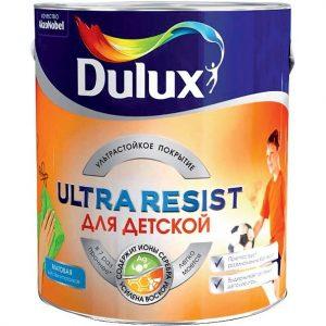 Фото 15 - Краска Дулюкс Ultra Resist для Детских комнат, акриловая моющаяся матовая интерьерная база BW [5л] Dulux.