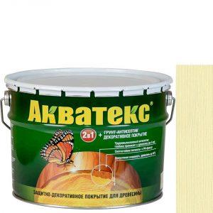 Фото 5 - Антисептик пропитка Акватекс Ваниль, защитно-декоративный полуглянцевый для древесины [10 л] Рогнеда.