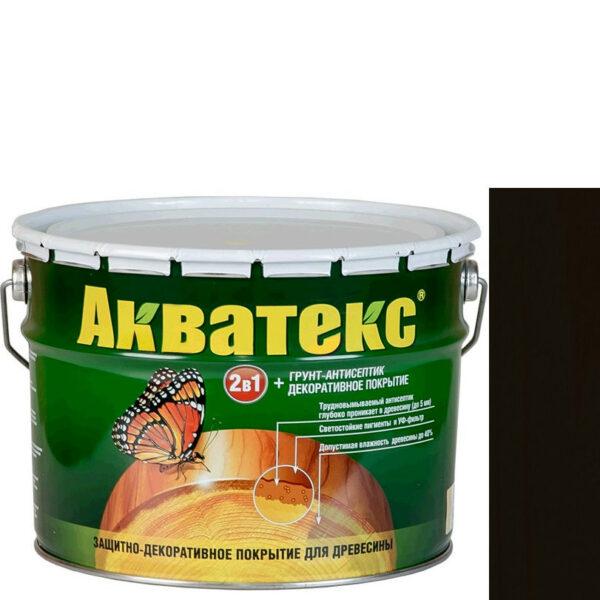 Фото 1 - Антисептик пропитка Акватекс Венге, защитно-декоративный полуглянцевый для древесины [20 л] Рогнеда.