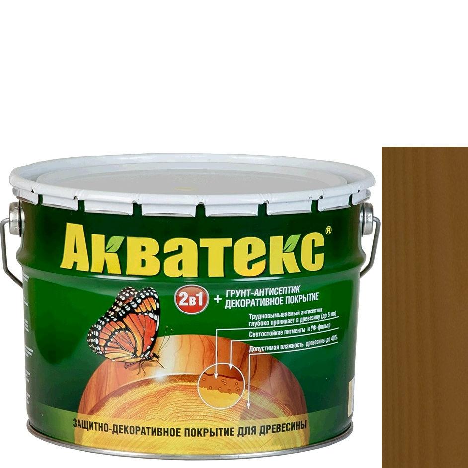 Фото 10 - Антисептик Акватекс Дуб, защитно-декоративный полуглянцевый для древесины [10 л] Рогнеда.