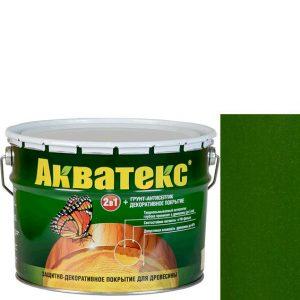 Фото 12 - Антисептик пропитка Акватекс Еловая зелень, защитно-декоративный полуглянцевый для древесины [10 л] Рогнеда.