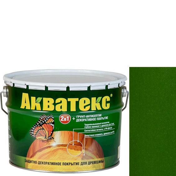 Фото 12 - Антисептик Акватекс Еловая зелень, защитно-декоративный полуглянцевый для древесины [10 л] Рогнеда.