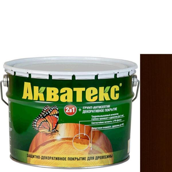 Фото 1 - Антисептик пропитка Акватекс Махагон, защитно-декоративный полуглянцевый для древесины [10 л] Рогнеда.