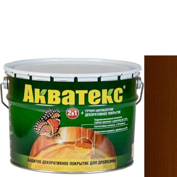 Фото 1 - Антисептик пропитка Акватекс Орех, защитно-декоративный полуглянцевый для древесины [10 л] Рогнеда.