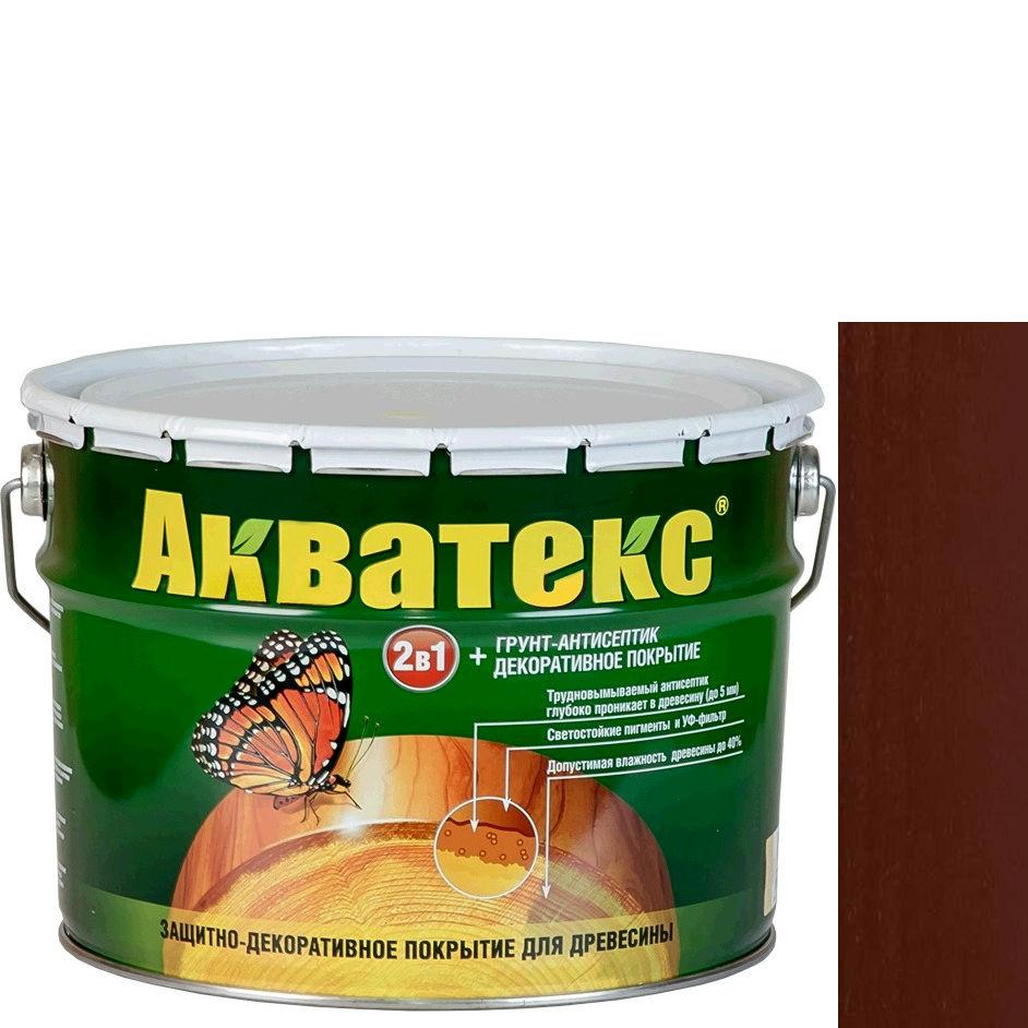 Фото 21 - Антисептик Акватекс Палисандр, защитно-декоративный полуглянцевый для древесины [10 л] Рогнеда.