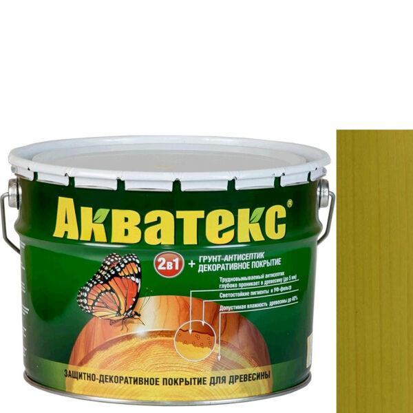 Фото 1 - Антисептик пропитка Акватекс Папортник, защитно-декоративный полуглянцевый для древесины [10 л] Рогнеда.