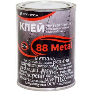 """Фото 3 - Клей """"88 Металл"""" (88 Metal) универсальный водостойкий  [0,75 л - уп. 6 шт] Акватекс/Аquatex."""