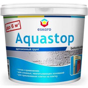 """Фото 2 - Грунт Адгезионный """"Аквастоп Контакт"""" (Aquastop Contact) для невпитывающих поверхностей  [14 кг] Эскаро/ Eskaro."""