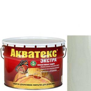 Фото 1 - Антисептик пропитка Акватекс Экстра Белый, защитно-декоративный полуглянцевый для древесины [10 л] Рогнеда.