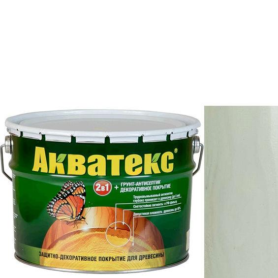 Фото 1 - Антисептик Акватекс Белый, защитно-декоративный полуглянцевый для древесины [10 л] Рогнеда.