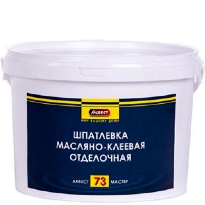 """Фото 1 - Шпатлевка """"Аквест -73 Мастер"""" масляно-клеевая отделочная для внутренних  работ-25 кг."""