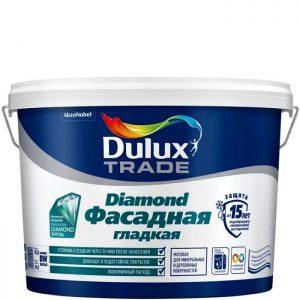 Фото 10 - Краска Дулюкс Трейд Даймонд (Trade Diamond) фасадная латексная гладкая матовая база BW [5л] Dulux.