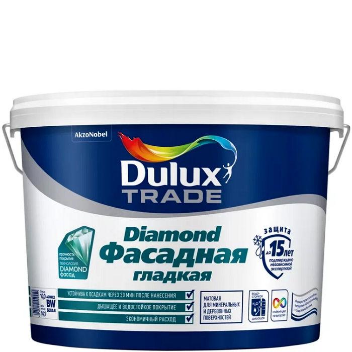 Фото 24 - Краска Дулюкс Трейд Даймонд (Trade Diamond) фасадная латексная гладкая матовая база BM [2.4л] Dulux.