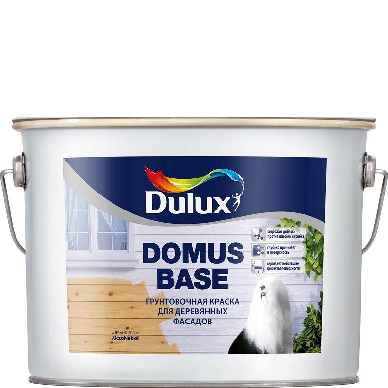 Фото 1 - Грунт-Краска Дулюкс Домус База (Domus Base) белая фасадная для деревянных поверхностей [10л] Dulux.