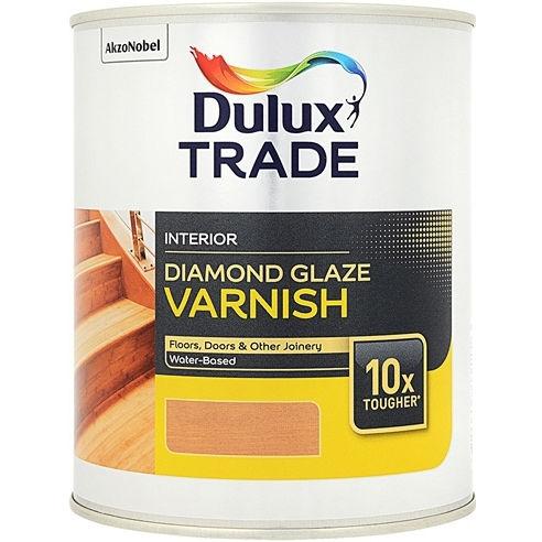 Фото 4 - Лак Дулюкс Trade Diamond Glaze, полуматовый паркетный на водной основе [1л] Dulux.