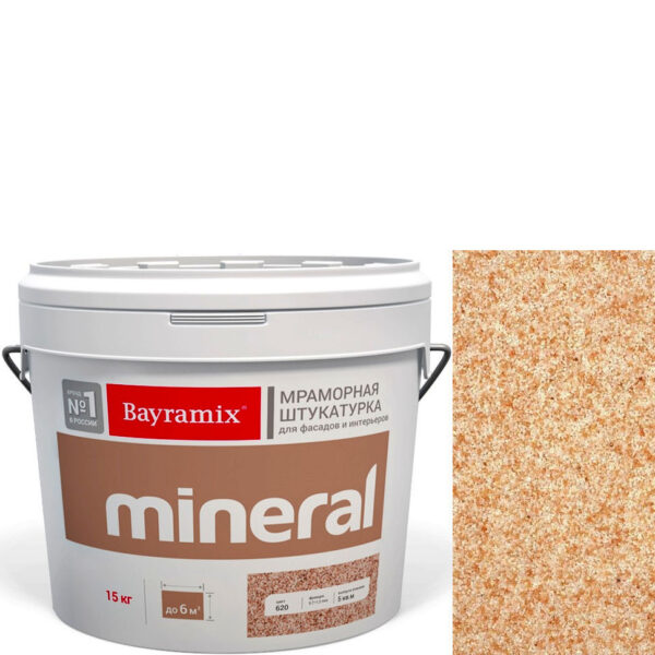 "Фото 1 - Мраморная штукатурка Байрамикс ""Минерал 356"" (Mineral) мозаичная фракция 0,7-1,2 мм  [15кг]  Bayramix."