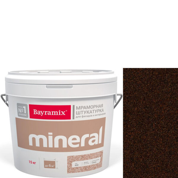 "Фото 1 - Мраморная штукатурка Байрамикс ""Минерал 358"" (Mineral) мозаичная фракция 0,7-1,2 мм  [15кг]  Bayramix."
