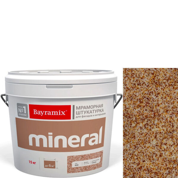 "Фото 1 - Мраморная штукатурка Байрамикс ""Минерал 362"" (Mineral) мозаичная фракция 0,7-1,2 мм  [15кг]  Bayramix."