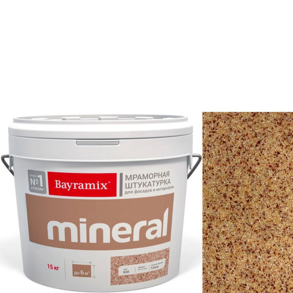 "Фото 1 - Мраморная штукатурка Байрамикс ""Минерал 432"" (Mineral) мозаичная фракция 0,7-1,2 мм  [15кг]  Bayramix."