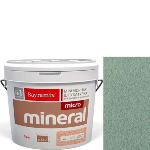 "Фото 1 - Мраморная штукатурка Байрамикс ""Микроминерал 637 + silver"" (Micro Mineral) мраморная, фракция 0,2-0,5 мм  [15кг]  Bayramix."