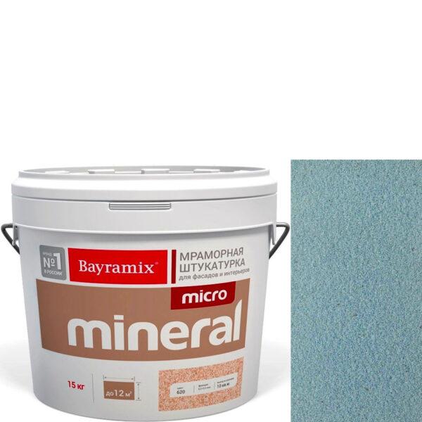 "Фото 1 - Мраморная штукатурка Байрамикс ""Микроминерал 638 + silver"" (Micro Mineral) мраморная, фракция 0,2-0,5 мм  [15кг]  Bayramix."