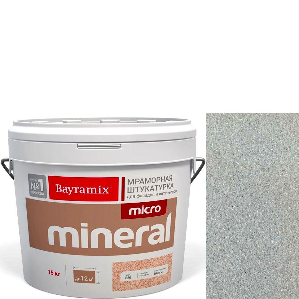 "Фото 24 - Мраморная штукатурка Байрамикс ""Микроминерал 639 + silver"" (Micro Mineral) мраморная, фракция 0,2-0,5 мм [15кг] Bayramix."