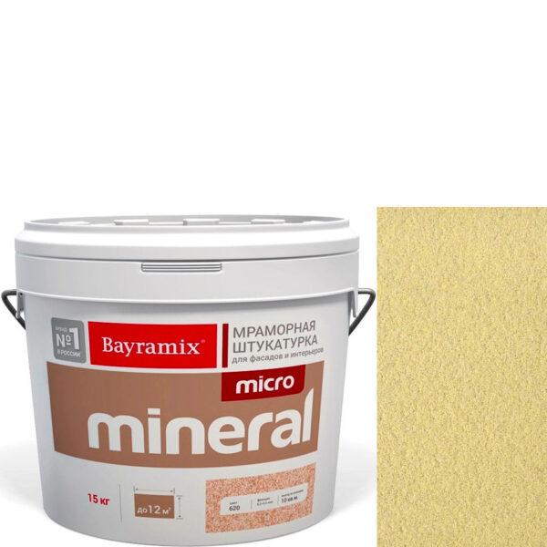 "Фото 1 - Мраморная штукатурка Байрамикс ""Микроминерал 646 + silver"" (Micro Mineral) мраморная, фракция 0,2-0,5 мм  [15кг]  Bayramix."