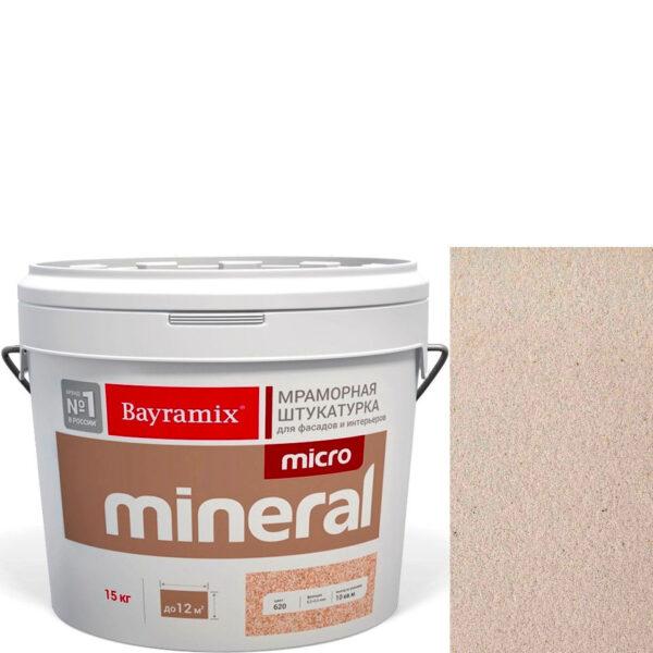 "Фото 1 - Мраморная штукатурка Байрамикс ""Микроминерал 647 + silver"" (Micro Mineral) мраморная, фракция 0,2-0,5 мм  [15кг]  Bayramix."