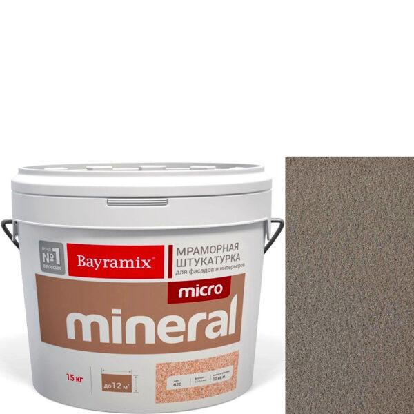 "Фото 1 - Мраморная штукатурка Байрамикс ""Микроминерал 650 + silver"" (Micro Mineral) мраморная, фракция 0,2-0,5 мм  [15кг]  Bayramix."