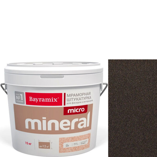 "Фото 1 - Мраморная штукатурка Байрамикс ""Микроминерал 662"" (Micro Mineral) мраморная, фракция 0,2-0,5 мм  [15кг]  Bayramix."