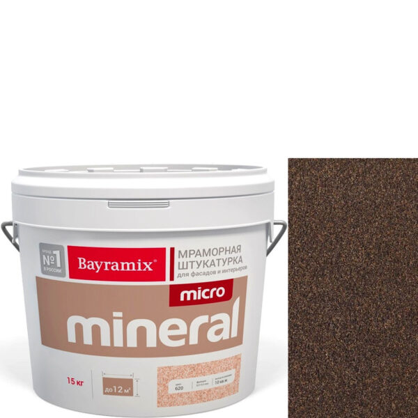"Фото 1 - Мраморная штукатурка Байрамикс ""Микроминерал 680"" (Micro Mineral) мраморная, фракция 0,2-0,5 мм  [15кг]  Bayramix."