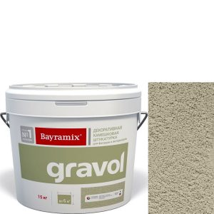 "Фото 1 - Мраморная штукатурка Байрамикс ""Гравол 062"" (Gravol) камешковая  с ярко выраженной шубой, фракция 2,5 мм  [15кг]  Bayramix."