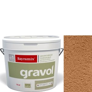 "Фото 9 - Мраморная штукатурка Байрамикс ""Гравол 070"" (Gravol) камешковая с ярко выраженной шубой, фракция 2,5 мм [15кг] Bayramix."
