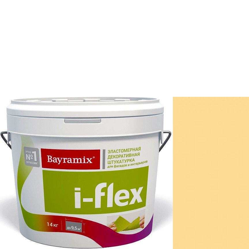 """Фото 9 - Мраморная штукатурка Байрамикс """"Ай-Флекс 070"""" (I-Flex) эластомерная  акриловая, фракция 0,7-1,2 мм  [14кг]  Bayramix."""