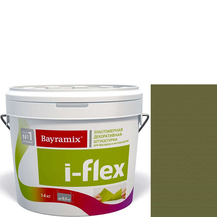 """Фото 18 - Мраморная штукатурка Байрамикс """"Ай-Флекс 079"""" (I-Flex) эластомерная  акриловая, фракция 0,7-1,2 мм  [14кг]  Bayramix."""