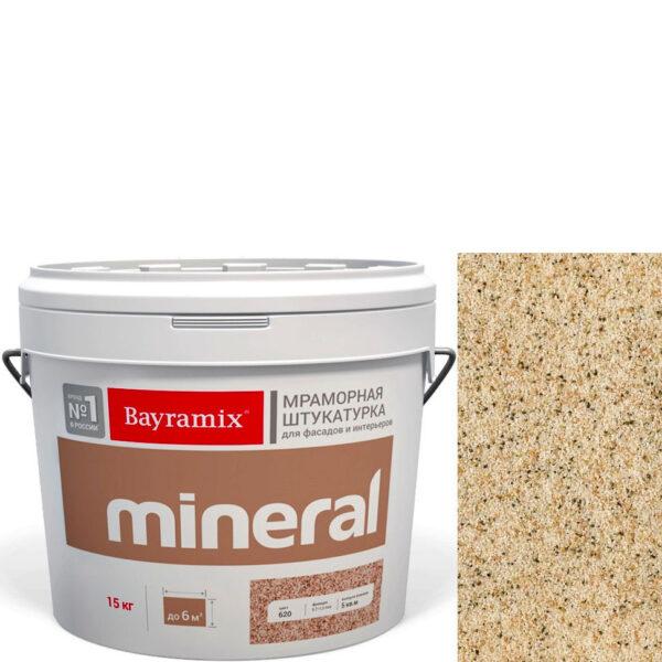"Фото 1 - Мраморная штукатурка Байрамикс ""Минерал 380"" (Mineral цвет Saftas) мозаичная, фракция 0,7-1,2 мм  [15кг]  Bayramix."