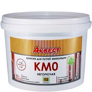"""Фото 1 - Краска негорючая """"Аквест - 12 КМО"""" полуматовая для путей эвакуации-14 кг."""