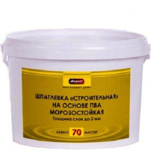 """Фото 1 - Шпатлевка """"Аквест -70 Мастер"""" строительная на основе ПВА для внутренних работ-25 кг."""